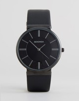 Sekonda Black Leather Watch Exclusive To ASOS