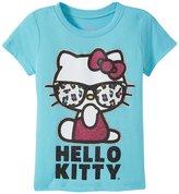 Hello Kitty Cool Glitter Tee (Toddler/Kid) - Blue Curacao - 6