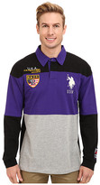 U.S. Polo Assn. Jersey Color Block Rugby Polo