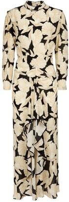 Rixo Dani printed silk midi dress