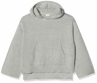 Name It Girl's Nkfririta Ls Knit Wh Hoodie