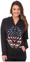 Rock and Roll Cowgirl Long Sleeve Hood Pullover 48H4241