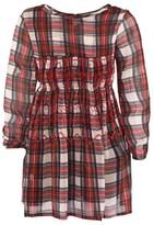 Mini Preen Red Tartan Dress With Waist Detail