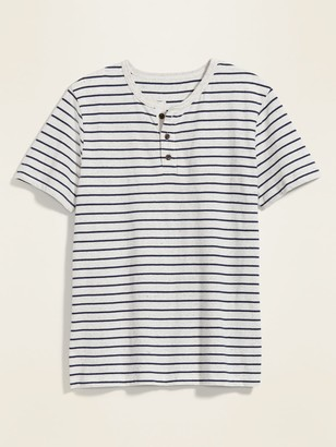 Old Navy Soft-Washed Striped Henley Tee for Men