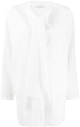 LE 17 SEPTEMBRE Tie-Neck Longline Shirt