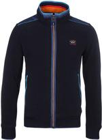 Paul & Shark Navy Zip Through Fleece Jacket