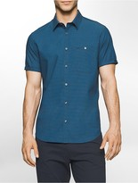 Calvin Klein Classic Fit Mini Stripe Short Sleeve Shirt