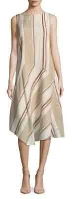 Lafayette 148 New York Printed Striped Dress