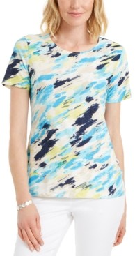 JM Collection Printed Crewneck T-Shirt, Created for Macy's