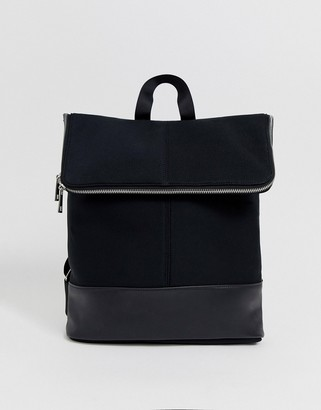 Asos Design DESIGN foldover backpack