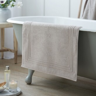 The White Company Egyptian Bath Mat, Pearl Grey, Medium