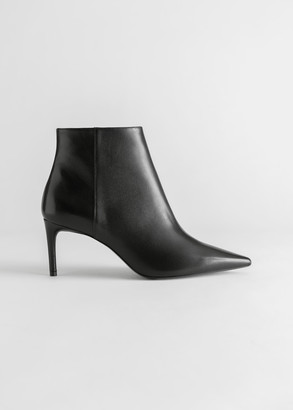And other stories Pointed Stiletto Leather Ankle Boots