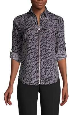 MICHAEL Michael Kors Chain-Print Long-Sleeve Shirt