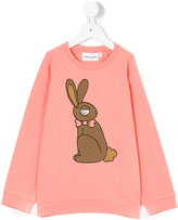 Mini Rodini rabbit print sweatshirt - kids - Organic Cotton/Spandex/Elastane - 3 yrs