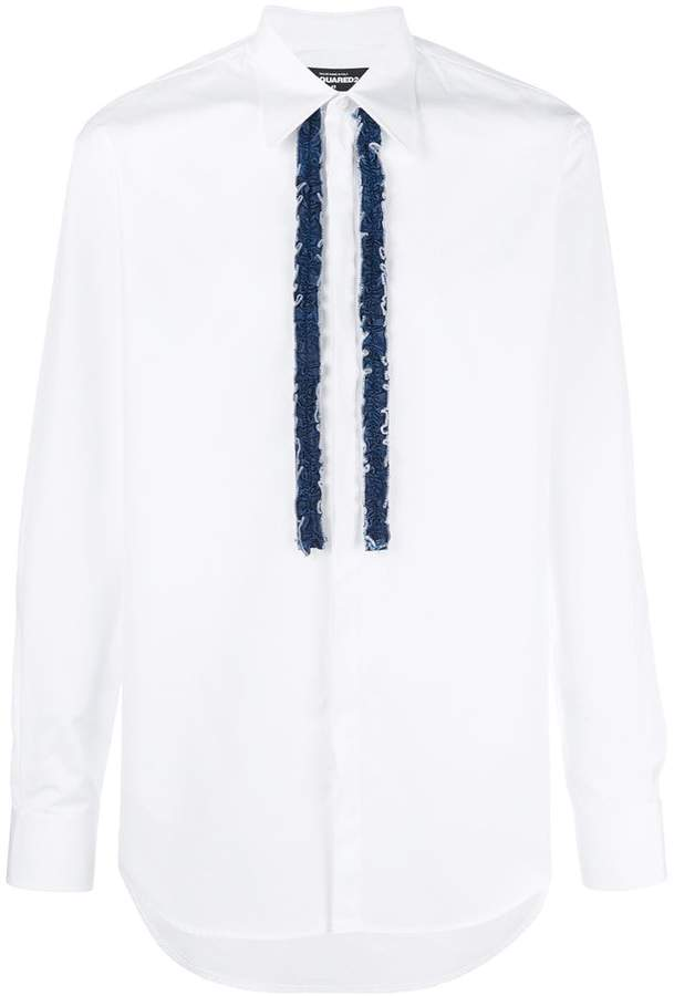 DSQUARED2 shirt with denim frills