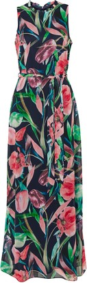 Wallis Navy Floral Print Maxi Dress