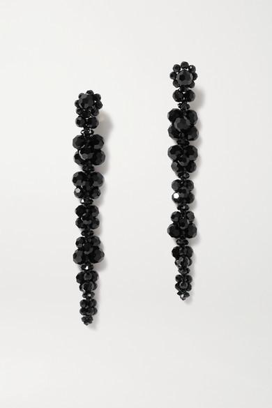 Simone Rocha Gold-tone Crystal Earrings - Black