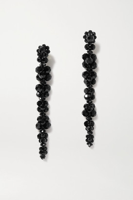 Simone Rocha Gold-tone Crystal Earrings - Black