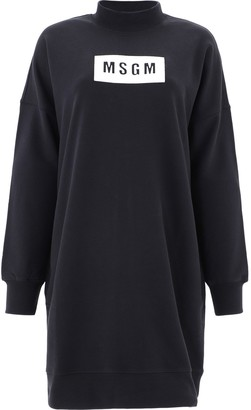MSGM Box Logo Sweatshirt Dress