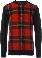 Balmain tartan pattern sweatshirt