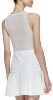 Autograph Addison Carmen Drop-Waist Fit-And-Flare Dress, White