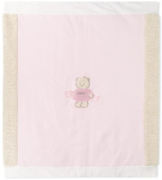 Le Bebé Enfant Teddy Embroidered Blanket