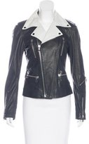Diesel Colorblock Leather Jacket