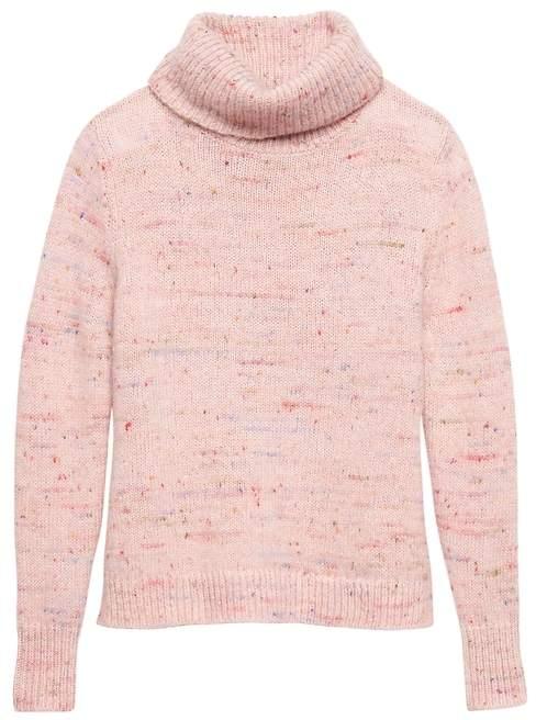 Banana Republic Confetti Wool-Blend Turtleneck Sweater