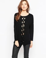 French Connection Cable Sweater In Black