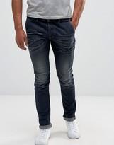 Diesel Kakee Slim Jeans 853v Trouser Pocket Dark Blasted Wash