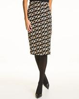 Le Château Chain Link Print High Waist Midi Skirt