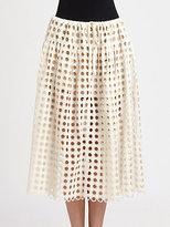 Chloé Eyelet Skirt