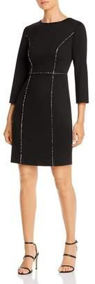 Karl Lagerfeld Paris Ponte Knit Piped Dress