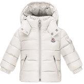 Moncler Jules Zip-Front Puffer Coat, White, Size 12M-3