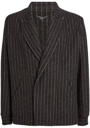 Sease Wool-Cashmere Striped C-Blazer