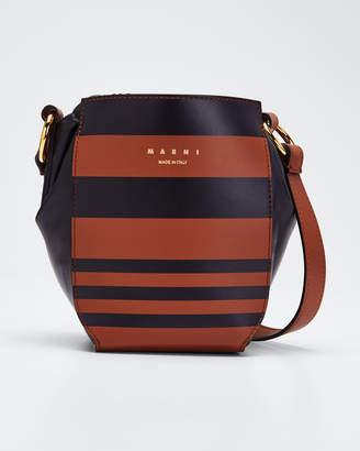 Marni Gusset Striped Shoulder Bag