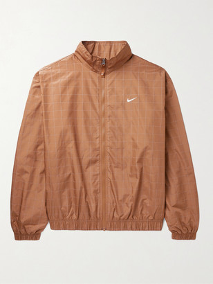 Nike Flash Reflective Checked Shell Track Jacket - Men - Brown