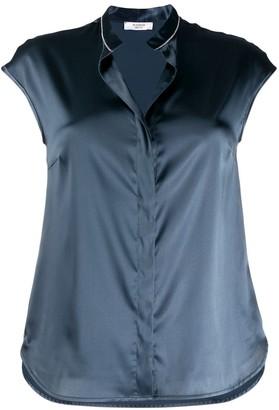Peserico metallic effect shirt