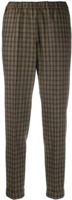 Alberto Biani Check Pattern Cropped Trousers