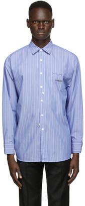 Ader Error Blue Cinder Pocket Shirt
