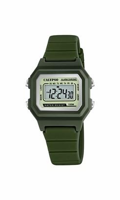 Calypso Unisex's Digital Quartz Watch with Plastic Strap K5802/4