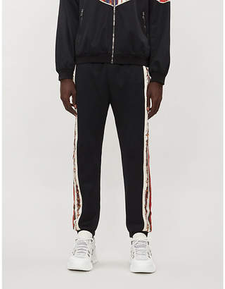 Gucci Side-stripe satin and stretch-jersey jogging bottoms