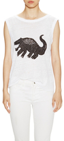 Tracy Reese Gator Linen Sleeveless Top