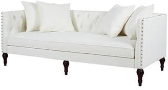 "Willa Arlo Interiors Jackson 82.5"" Tuxedo Arm Sofa Fabric: Antique White 100% Polyester"