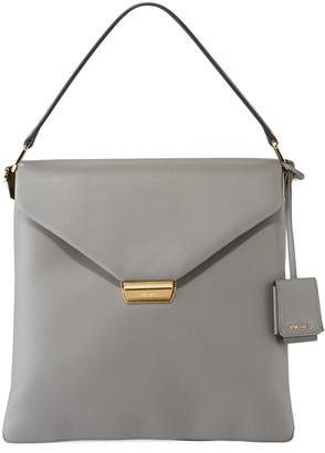 Prada Ingrid New Calf Double Gussets Top Handle Bag