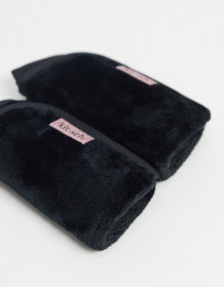Kitsch Microfibre Makeup Removing Towels - Black