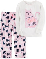 Carter's 2-Pc. Cat's Pajamas Pajama Set, Toddler Girls (2T-5T)