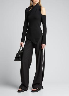 Monse Sliced Asymmetric Merino Sweater