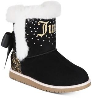 Juicy Couture Big Girls Black Cozy Boots