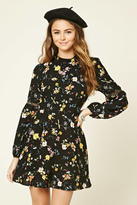 Forever 21 FOREVER 21+ Floral Print Mock Neck Dress